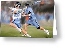 College Lacrosse 11 Greeting Card