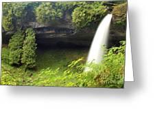 North Falls At Silver Falls Greeting Card