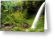 North Falls Waterfall Greeting Card