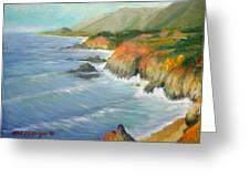 North Of Big Sur Greeting Card by Max Mckenzie