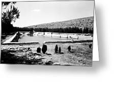 North Pool In 1939 Greeting Card