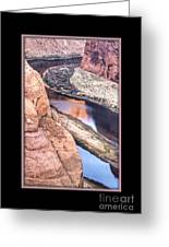 North Side Of Horseshoe Bend Greeting Card