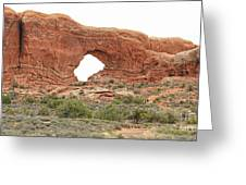 North Window Arch Greeting Card