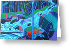 North Woods River 2 Greeting Card