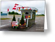 North York Drive-in Box Office Greeting Card