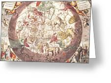 Northern Boreal Hemisphere From The Celestial Atlas Greeting Card by Pieter Schenk