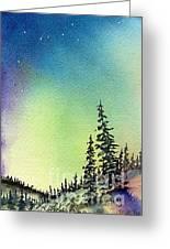 Northern Lights - D Greeting Card