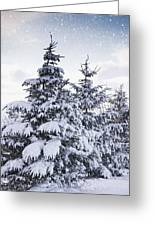Northumberland, England Snow-covered Greeting Card