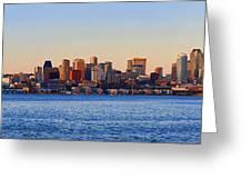 Northwest Jewel - Seattle Skyline Cityscape Greeting Card