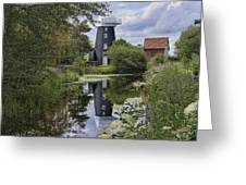 Norton Marsh Mill Norfolk Greeting Card