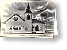 Norwegian Church Cardiff Bay Cream Greeting Card