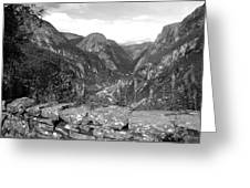 Norwegian Valley Greeting Card