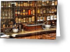 Nostalgia Pharmacy 2 Greeting Card
