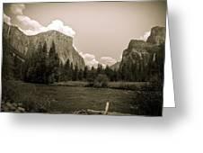 Nostalgic Yosemite Valley Greeting Card