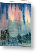 Nothern Lights Country Greeting Card