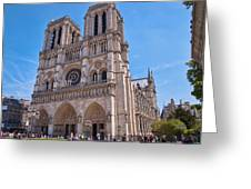 Notre Dame Cathedral Paris France Greeting Card
