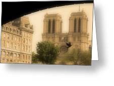 Notre Dame Cathedral Viewed Greeting Card