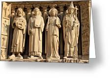 Notre Dame Details 1 Greeting Card