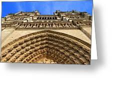 Notre Dame Details 7 Greeting Card