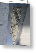 Notre Dame In Reflection Greeting Card