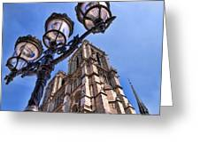 Notre Dame Tower Greeting Card