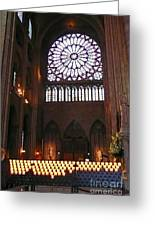 Notre Dame Votive Candles Greeting Card
