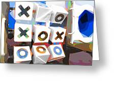 Noughts And Crosses Greeting Card