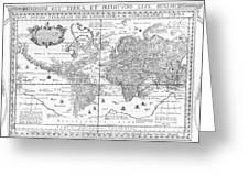 Nova Totius Terrarum Orbis Geographica Ac Hydrographica Tabula Greeting Card