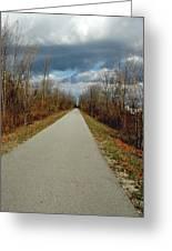 November On Macomb Orchard Trail Greeting Card