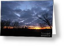 November Sunrise Greeting Card
