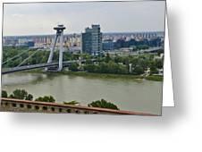 Novy Most Bridge - Bratislava Greeting Card