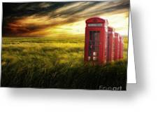 Now Home To The Red Telephone Box Greeting Card by Lee-Anne Rafferty-Evans