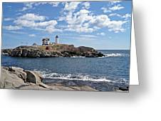 Nubble Light II Greeting Card