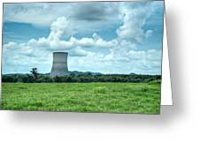 Nuclear Cooling Tower Greeting Card