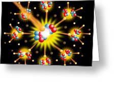 Nuclear Fission Greeting Card by David Nicholls