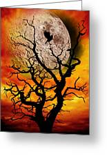 Nuclear Moonrise Greeting Card