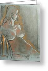 Nude Model  Greeting Card