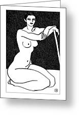 Nude Sketch 29 Greeting Card by Leonid Petrushin