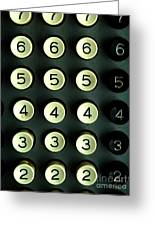 Numbers Game Greeting Card