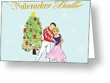 Nutcracker Ballet Romance Greeting Card by Marie Loh