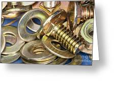 Nuts Bolts And Washers Greeting Card