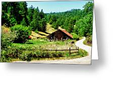 Nw California Country Road Greeting Card