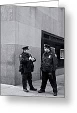 Ny Beat Cops Holding The Banana Republic Greeting Card