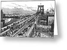 Ny: Brooklyn Bridge, 1883 Greeting Card