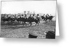 Ny Police Fencing On Horseback Greeting Card