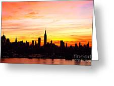 Ny Saturday Sunrise Greeting Card