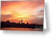 Ny Skyline -daybreak Splendor Greeting Card