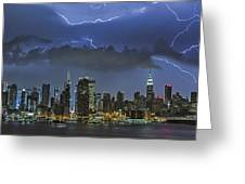 Nyc All Charged Up Greeting Card