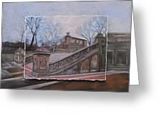 Nyc Bethesda Stairs Layered Greeting Card