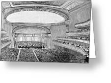 Nyc: Carnegie Hall, 1891 Greeting Card